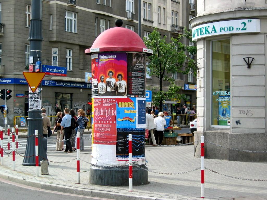 Poster designed by Grzegorz Laszuk displayed in Warsaw, June 2004